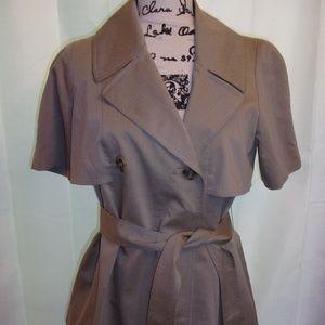 Nine West Sz 6 Tan Lined Jacket